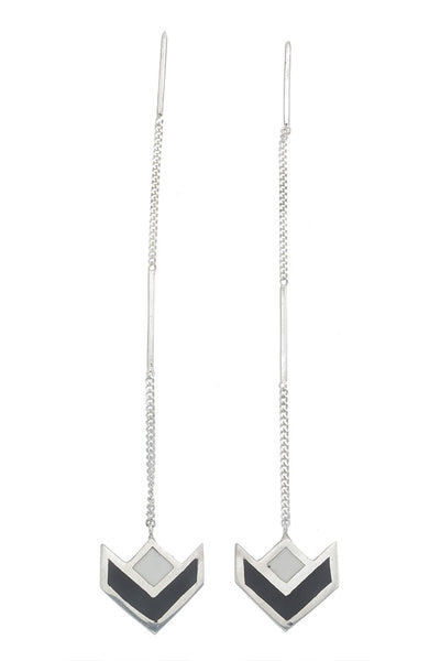 VICTORY PULL THROUGHS EARRINGS - SILVER