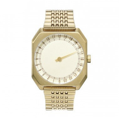 Slow Jo 04: Gold Steel / Creme Dial