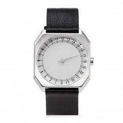Slow Jo 05: Black Leather / Silver Dial