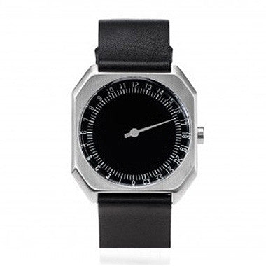 Slow Jo 06: Black Leather / Silver Case / Black Dial