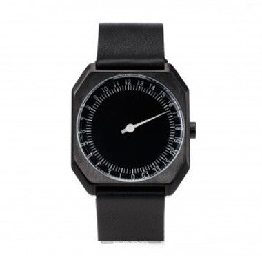 Slow Jo 07: Black Leather / Black Dial