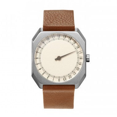 Slow Jo 09: Brown Leather / Creme Dial