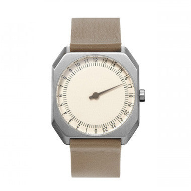 Slow Jo 10: Beige Leather / Creme Dial