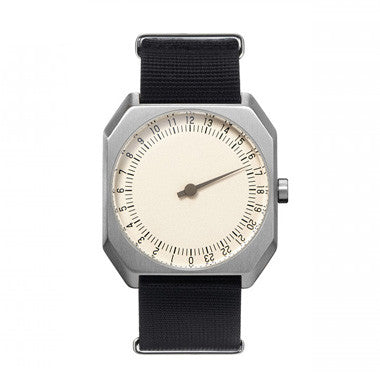Slow Jo 12: Black Nylon / Creme Dial