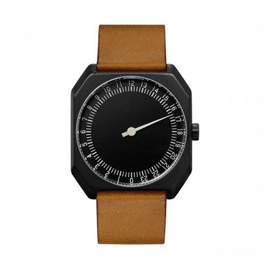 Slow Jo 19: Brown Vintage Leather / Black Dial