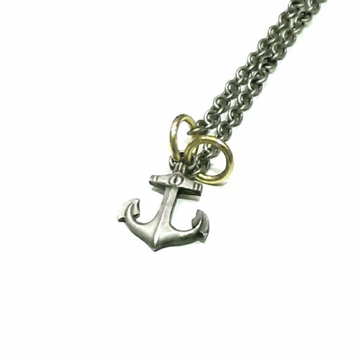 Thomas V Paris - Anchor Necklace in Rust Silver