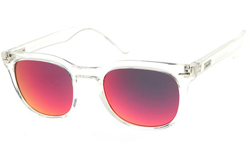Spektre MeMento Audere Semper Sunglasses: Transparent/Red Mirror (MAS-B/4)