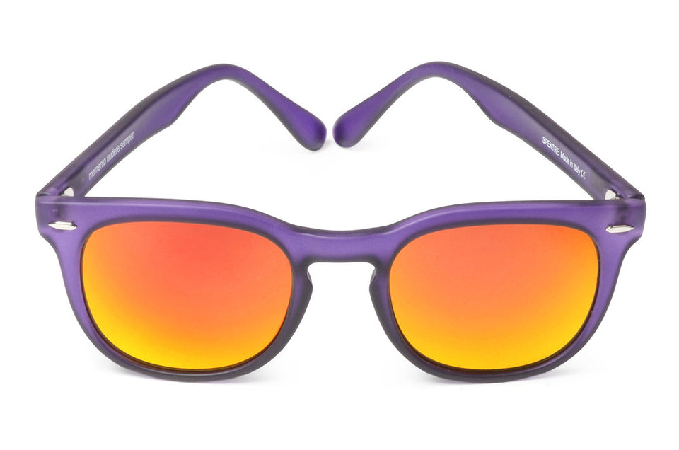 Spektre MeMento Audere Semper Sunglasses: Transparent Purple/Orange Mirror (MAS-L/1)
