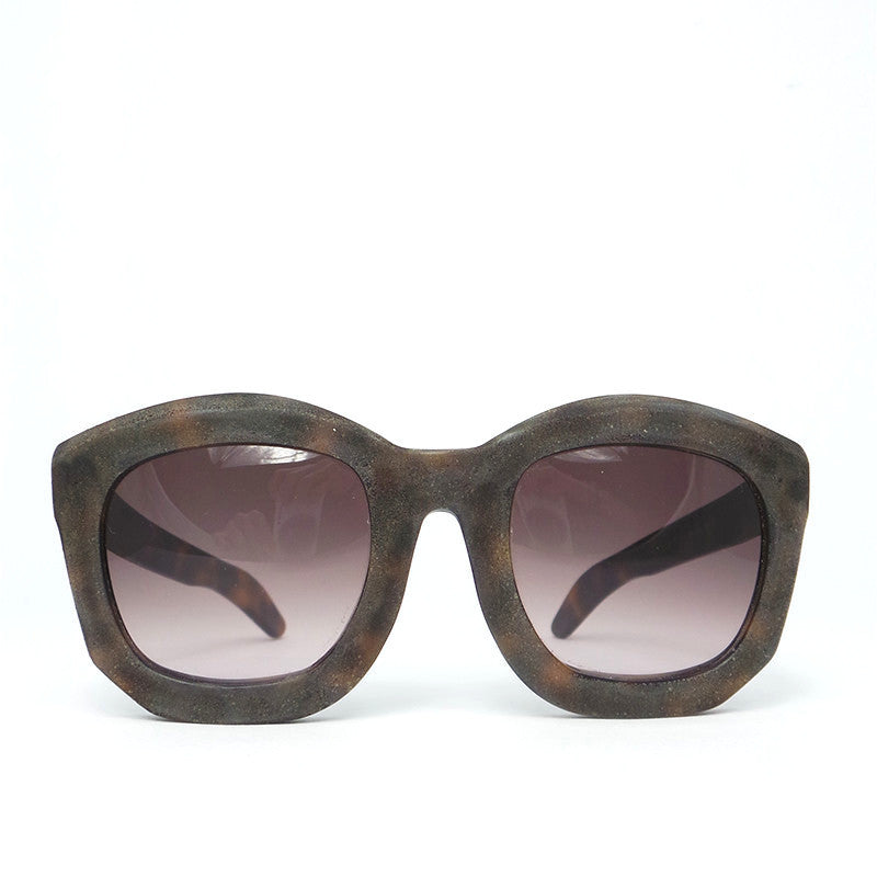 Kuboraum B2 Sunglasses Plum: K0.01 Burnt/Havana