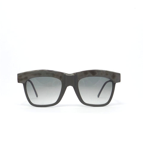 Kuboraum M7 Sunglasses Black: Ltd Julius Burnt Silver Chain with Silver Black Insert