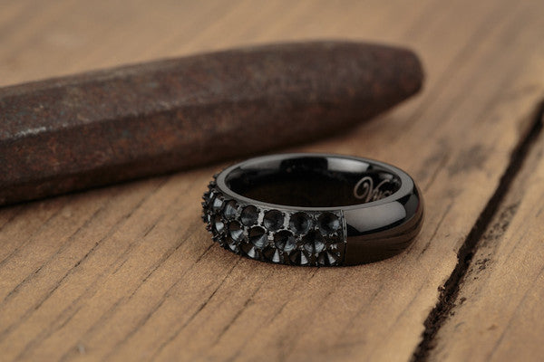 Vitaly Anti-Stone Ring - Black