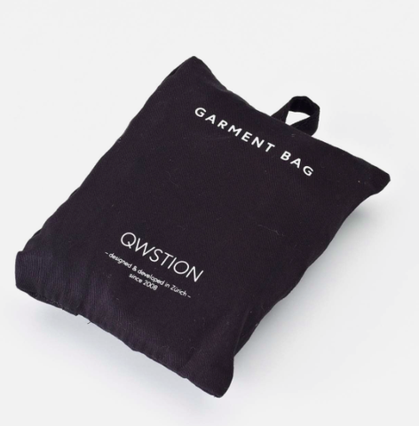 Qwstion Garment Bag: Washed Black