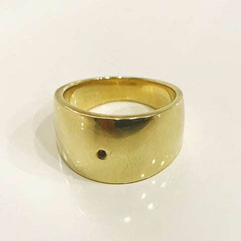 Henson Husk Signet Ring GOLD  17.5mm diameter (US 7.25)