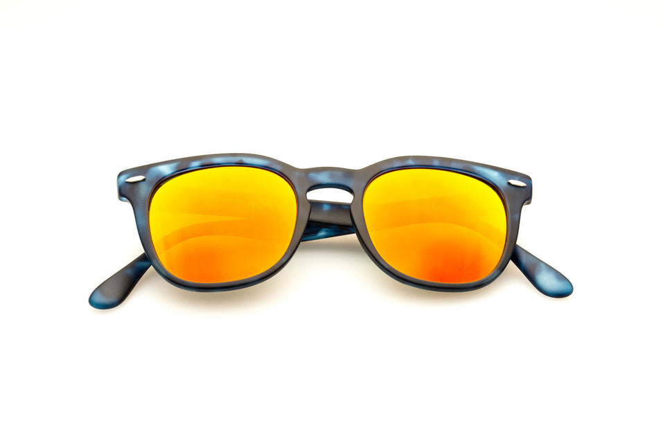 Spektre Memento Audere Semper Sunglasses: Matte Denim/Orange Mirror (MAS-I/3)