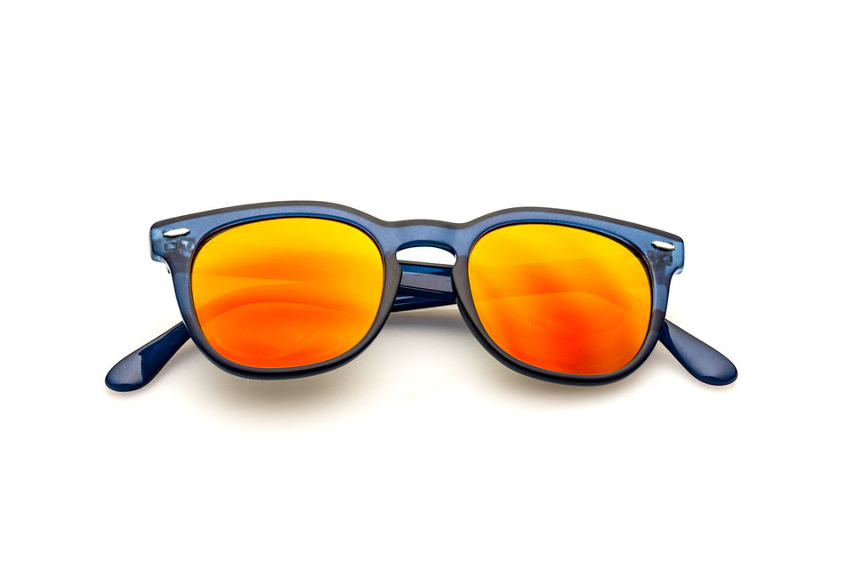 Spektre Memento Audere Semper Sunglasses: Glossy Blue/Orange Mirror (MAS-O/4)