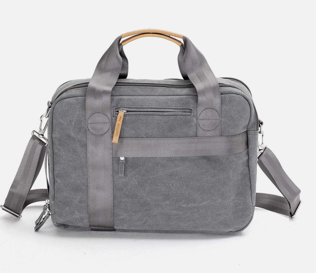 Qwstion Office Bag: Washed Grey