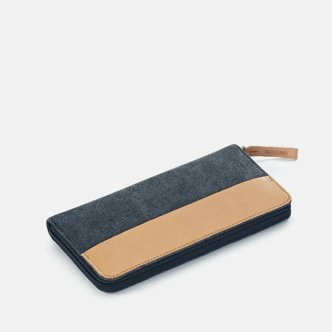 Qwstion Passport Wallet: Washed Black