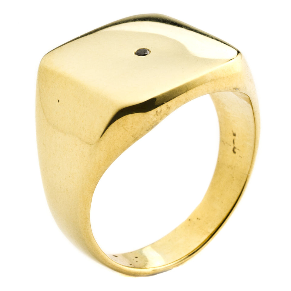 Henson Plain single Diamond Ring Gold 19.8mm diameter (US9.3)