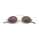 Spektre MET-RO Sunglasses: Silver/Brown Mirror