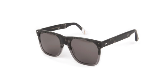 Waiting for the Sun Delta Sunglasses: Black with Natural Top