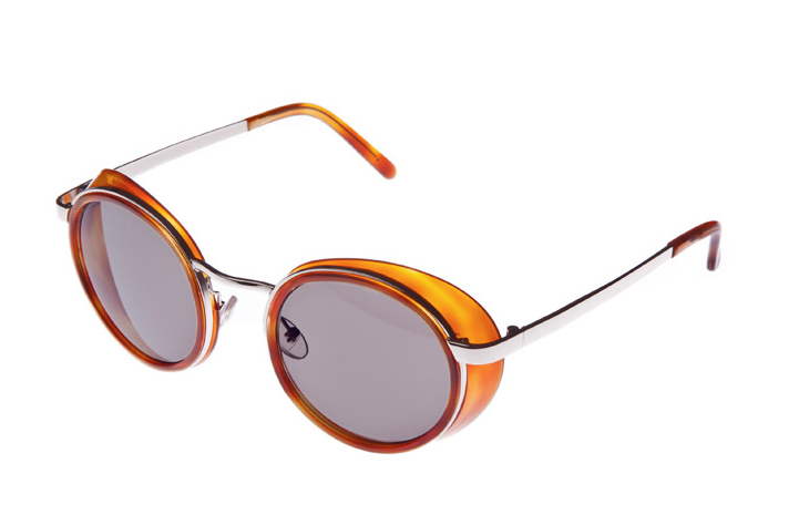 Conservatoire Contempo 404 Sunglasses: Silver/Light Orange