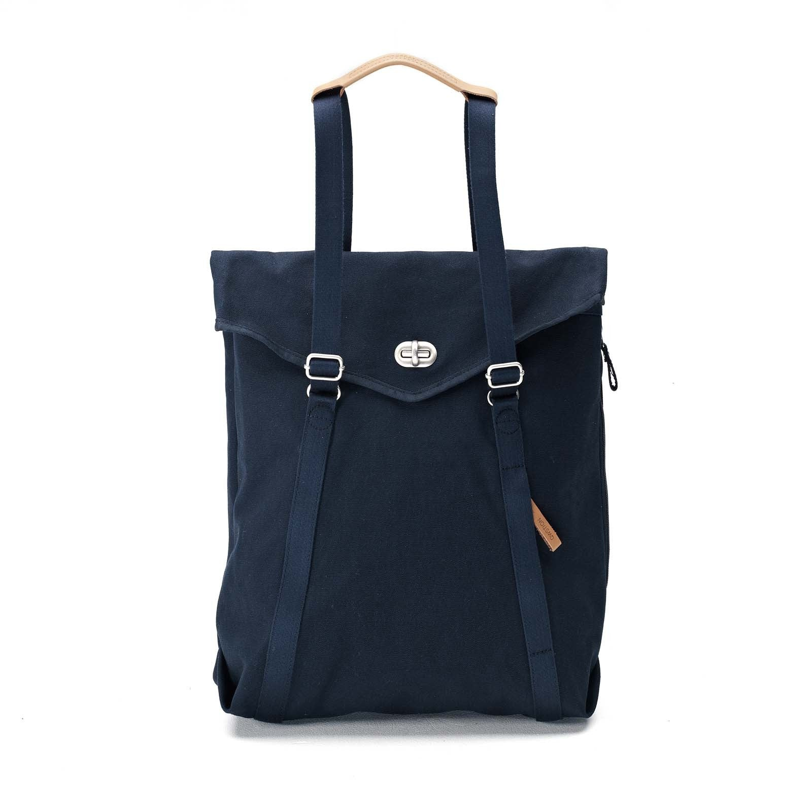 Qwstion Tote: Organic Navy