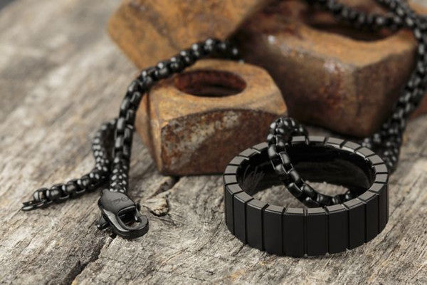 Vitaly Volfram Necklace  - Matte Black