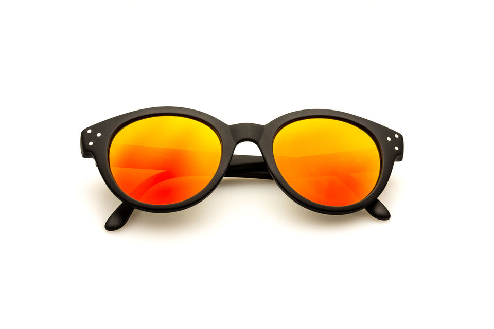 Spektre Vitesse Sunglasses: Matte Black/Orange Mirror (VIT-A/3)