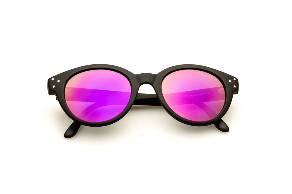Spektre Vitesse Sunglasses: Matte Black/Purple Mirror (VIT-A/2)