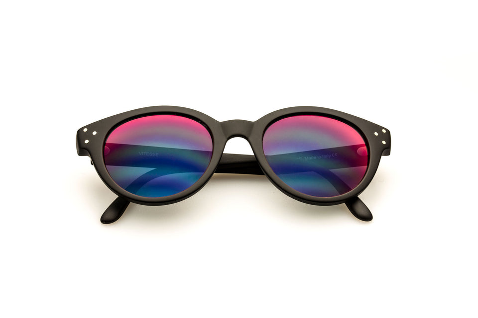 Spektre Vitesse Sunglasses: Matte Black/Red Mirror (VIT-A/5)