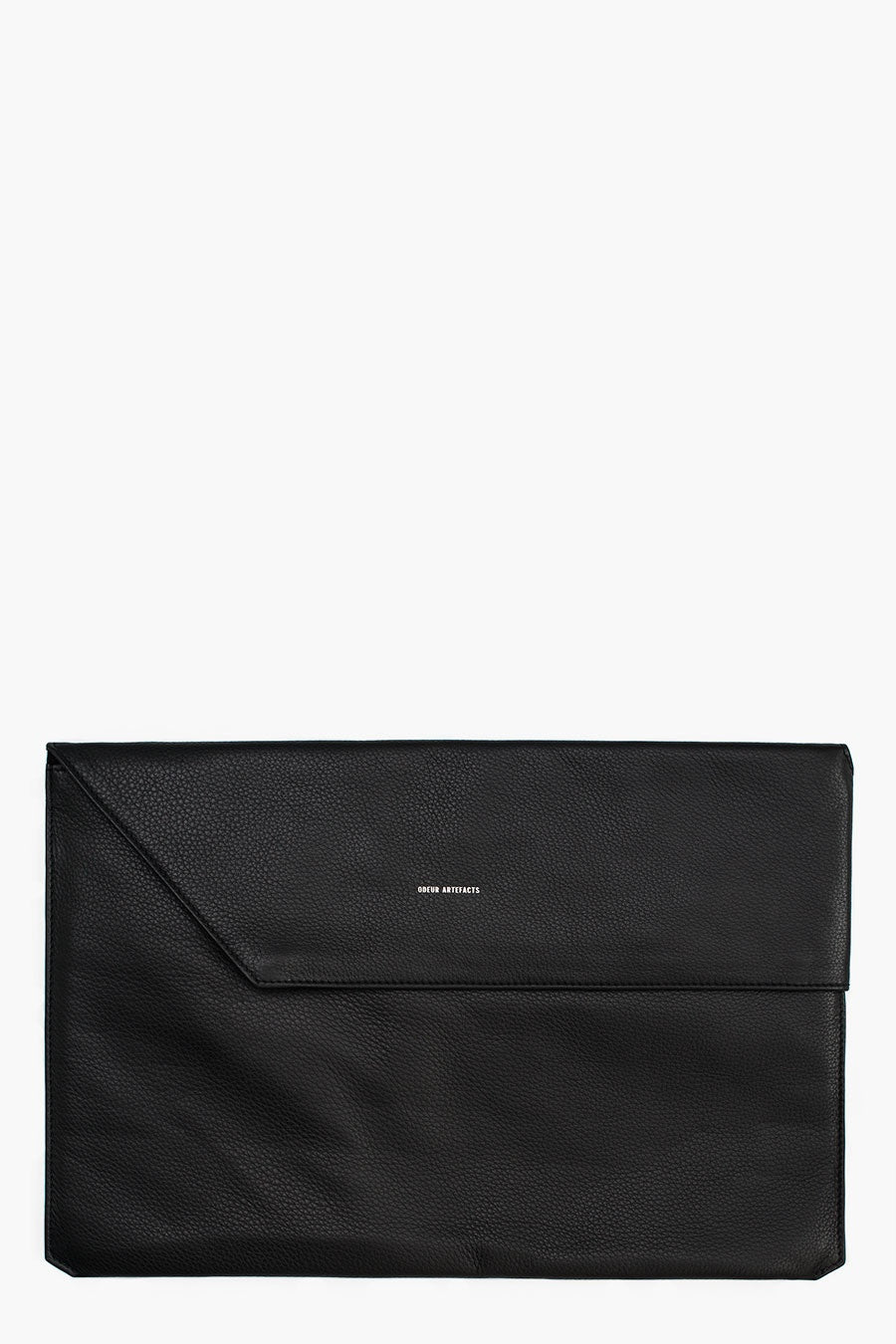 Odeur Artefacts Fold Laptop Case: Black Leather