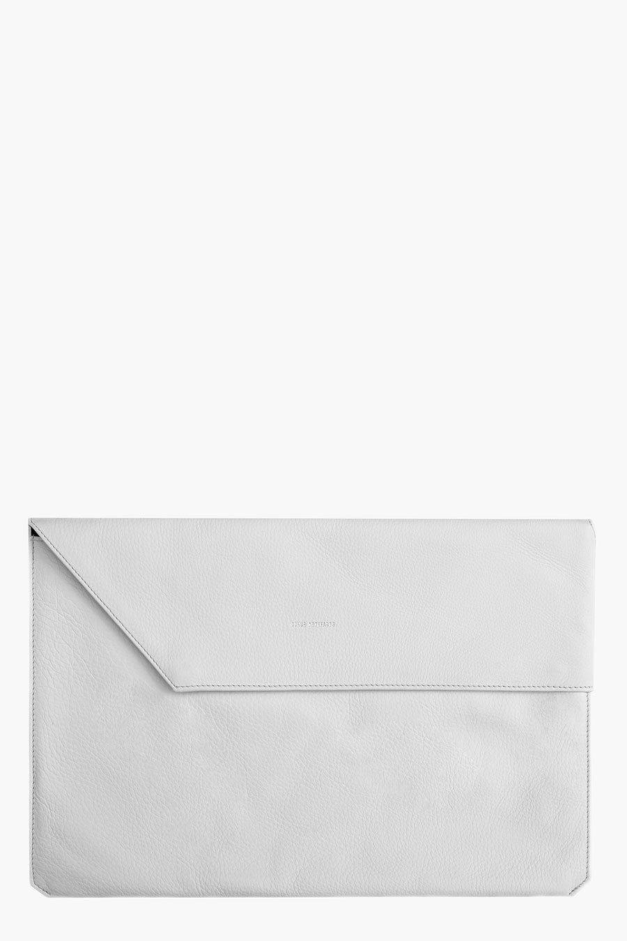 Odeur Artefacts Fold Laptop Case: White Leather