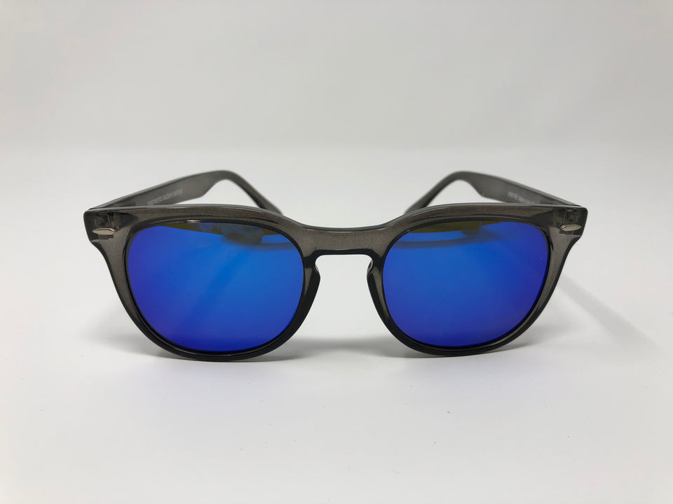 Spektre Memento Audere Semper Sunglasses: Transparent Black/Blue Mirror (MAS-H/2)