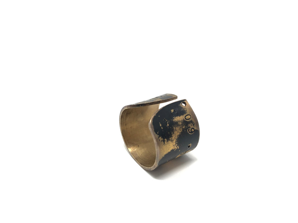 Lucieblanche Fibonacci Collection: Gold Plated Ring