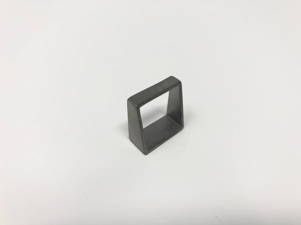 Lucieblanche Square Collection: 1 Way Module Polished Ruthenium Ring