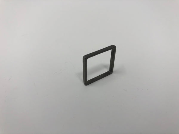 Lucieblanche Square Collection: Straight Module Polished Sterling Silver Ring
