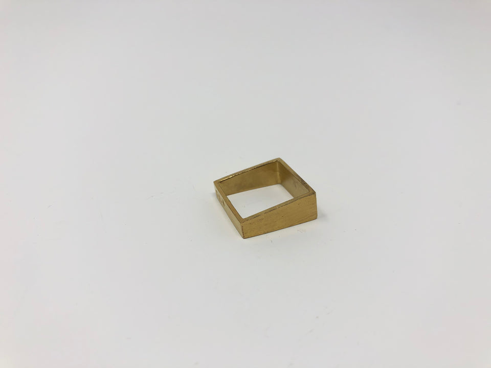 Lucieblanche Square Collection: 1 Way Module Gold Ring