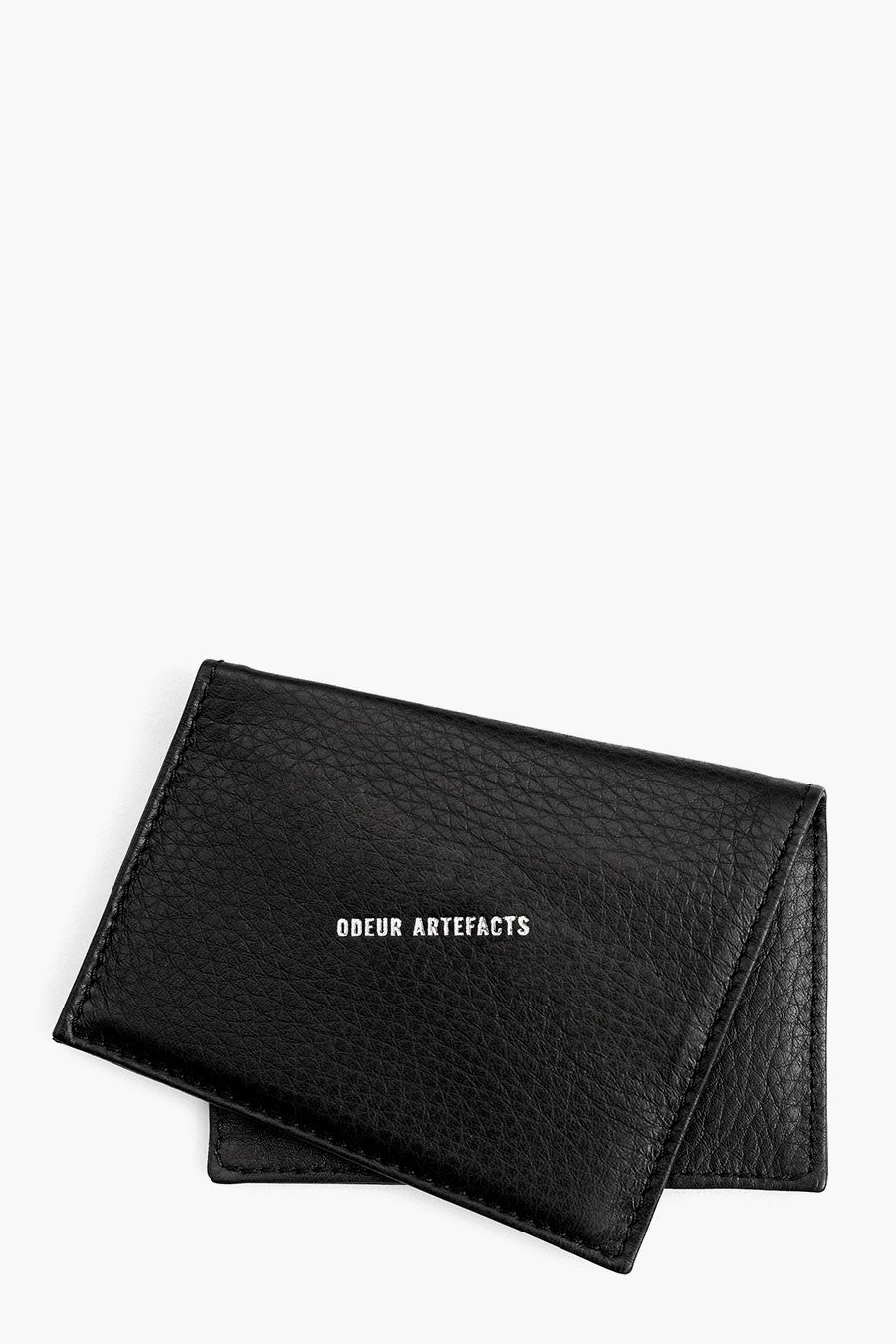 Odeur Artefacts Skew Card Holder: Black Leather