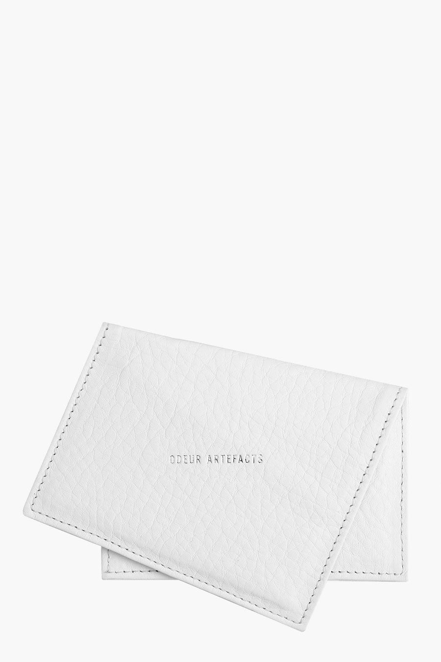 Odeur Artefacts Skew Card Holder: White Leather