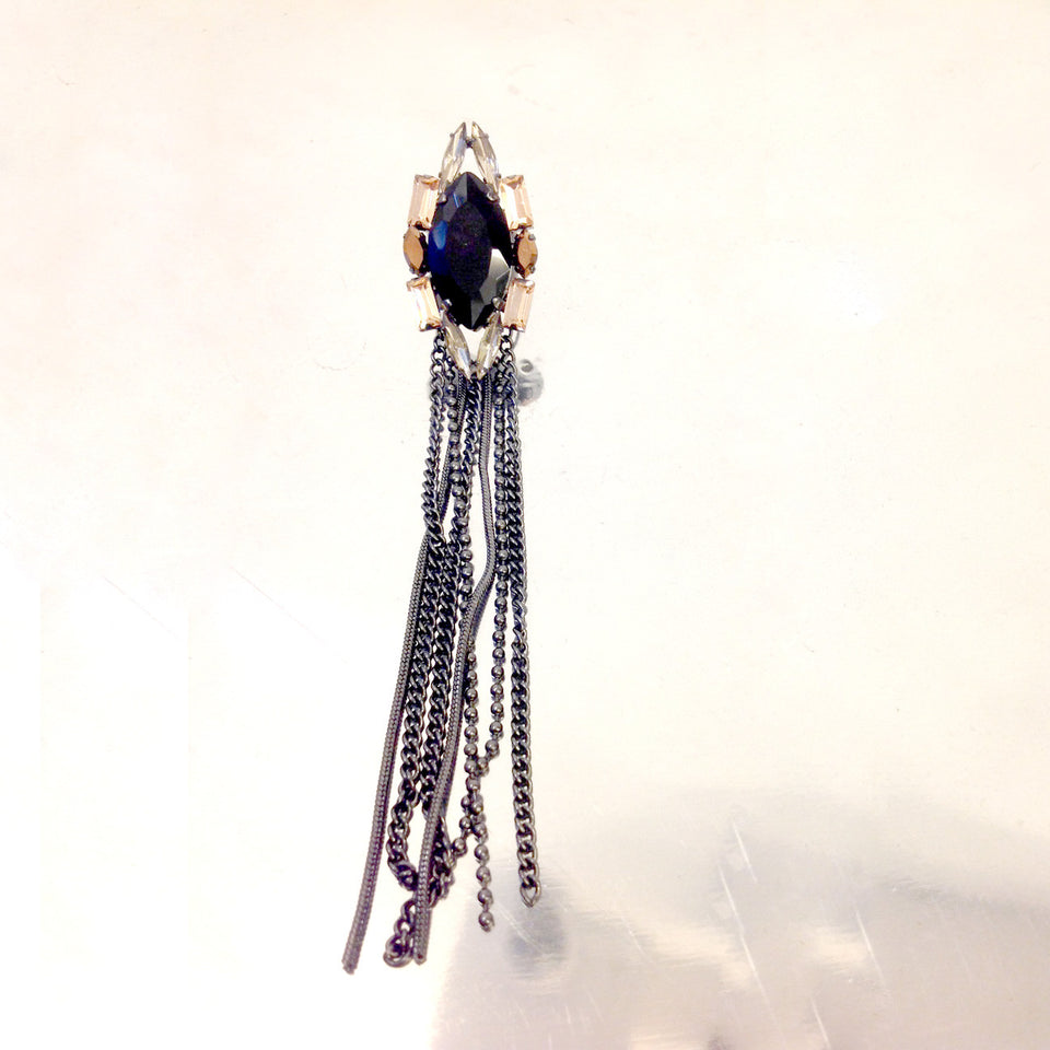 Stella Nemiro Allure Jet Ring with Chains