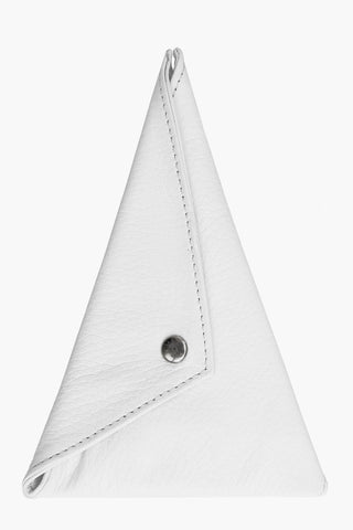 Odeur Artefacts Triangular Key Holder: White Leather