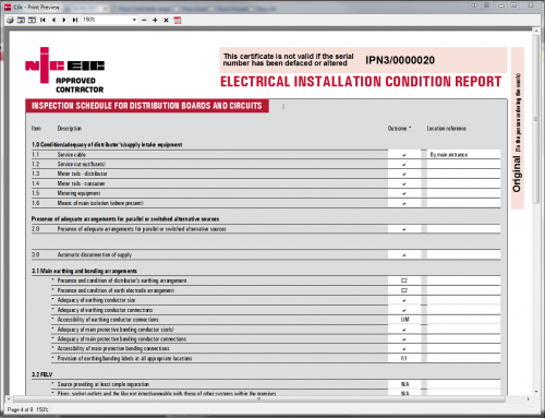 Electrical Installation Part P Certificate In Domestic