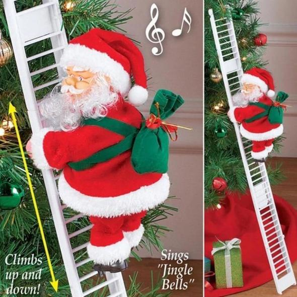 The Climbing Santa Claus Best Christmas Present Gift in Christmas Tree