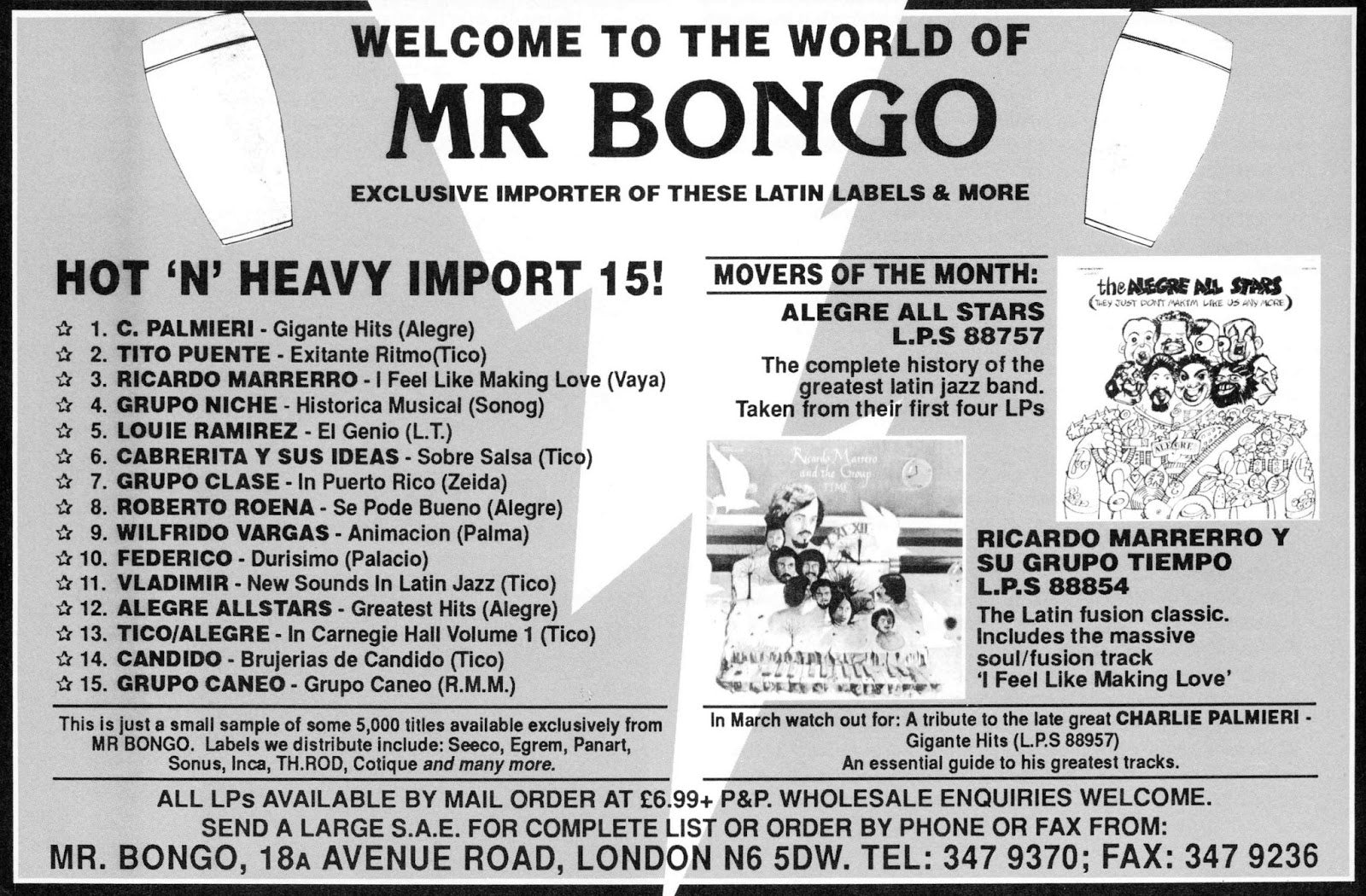 mr bongo records hot list