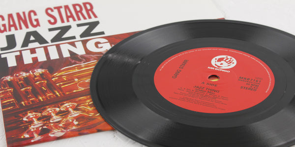 "Gang Starr Jazz Thing - 7"" Vinyl - Mr Bongo"