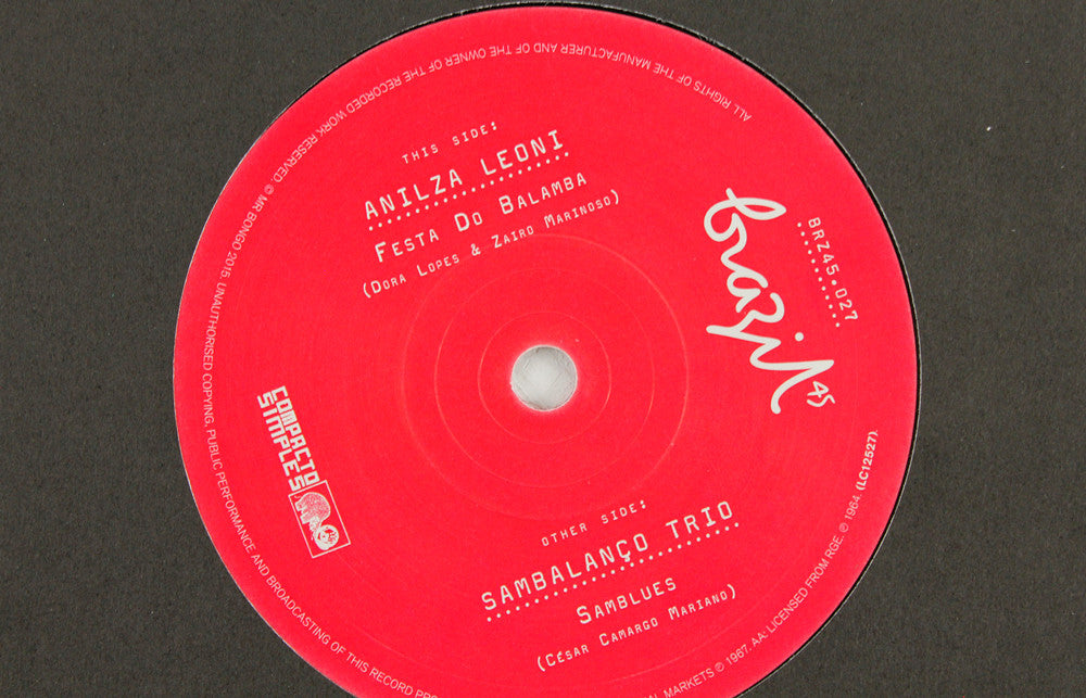Anilza Leoni - Balumba / Sambalanca Trio - Sam Blues - 7""