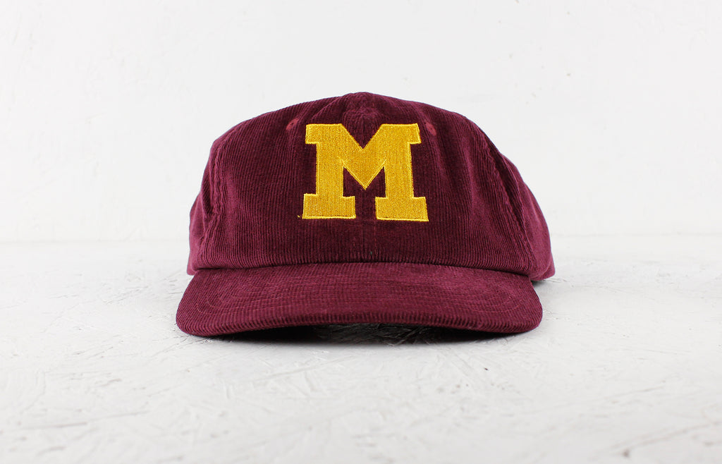 Melange Records Cap – Burgundy / Gold