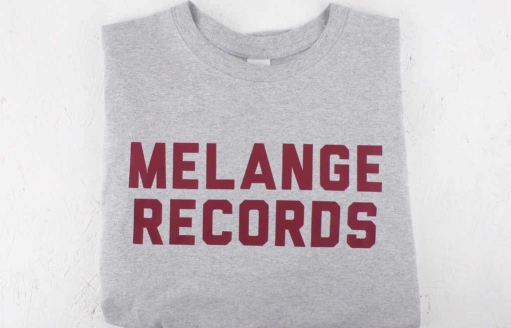 Melange Records Long Sleeved T-Shirt – Grey / Burgundy
