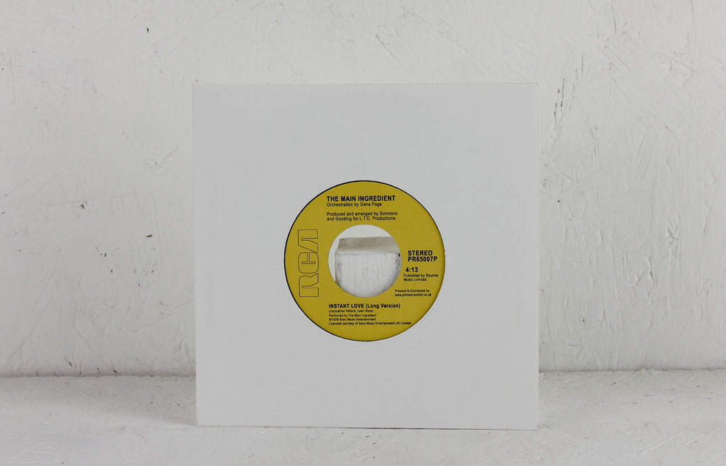 The Main Ingredient ‎– Instant Love / Work To Do – Vinyl 7""