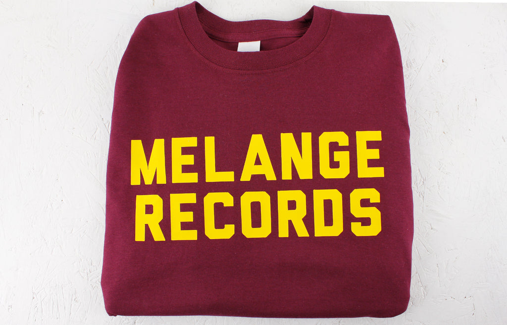 Melange Records Long Sleeved T-Shirt – Burgundy / Mustard